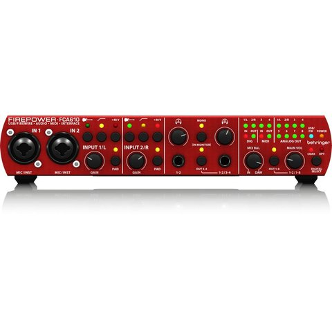 Behringer FCA610 6-1/O 24-Bit/96kHz Interface