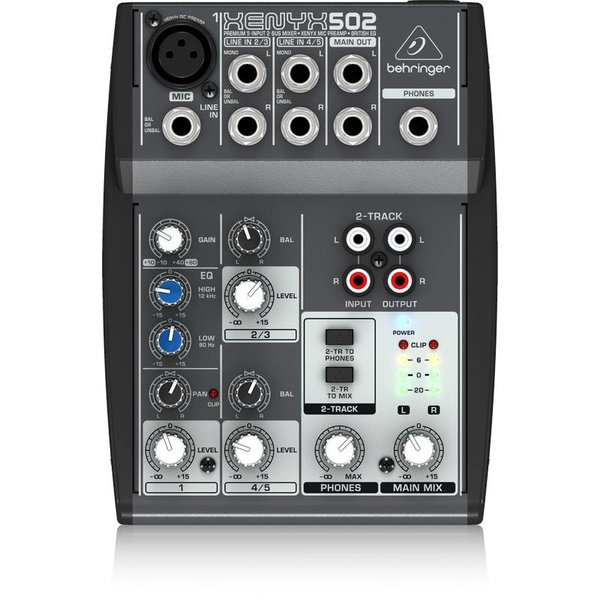 Behringer Behringer 502 5-Input 2-Bus Mixer, XENYX/EQ