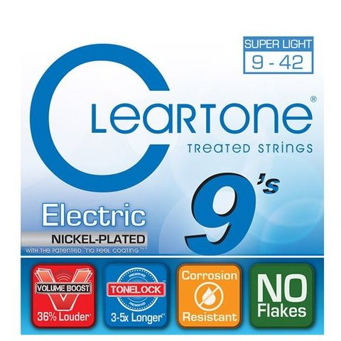 Cleartone 9409 EMP Electric Guitar Strings .009-.042 Super Light