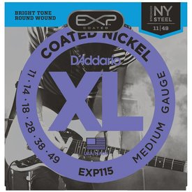 D'Addario D'Addario EXP115 Coated Electric Guitar Strings, Medium/Blues/Jazz, 11-49
