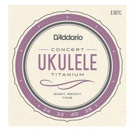 D'Addario D'Addario EJ87C Titanium Ukulele Strings, Concert