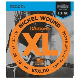 D'Addario D'Addario ESXL110 Nickel Wound Electric, Regular Light, Double Ball End, 10-46