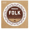 D'Addario EJ32 Folk Nylon Strings, Ball End, Silver Wound/Black Nylon Trebles