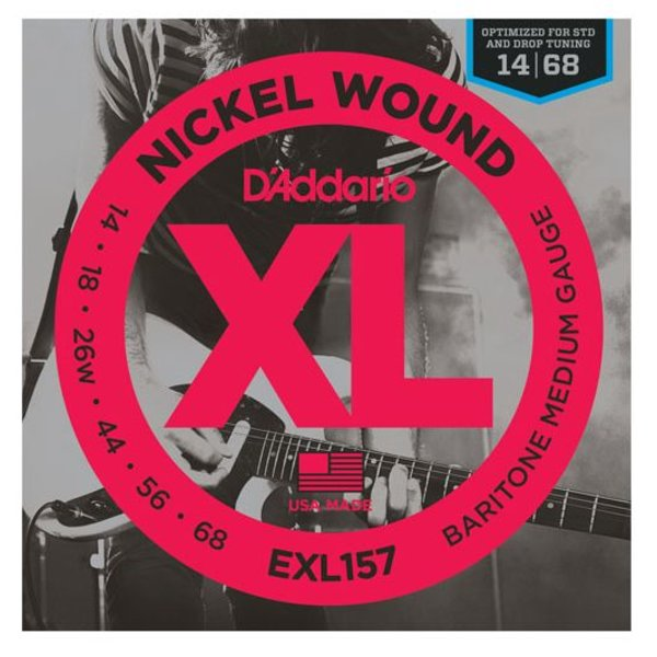 D'Addario D'Addario EXL157 Nickel Wound Electric Guitar Strings, Baritone Medium, 13-62