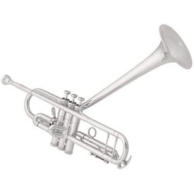 King King 2055TUB Silver Flair Dizzy Model Performance Bb Trumpet, Upturned Bell