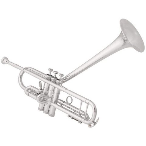 King 2055TUB Silver Flair Dizzy Model Performance Bb Trumpet, Upturned Bell