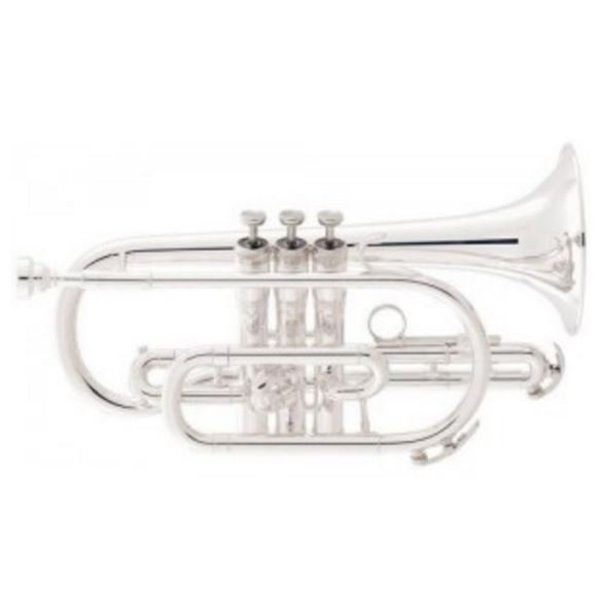 King King 605WSP Student Cornet, Silver Plated