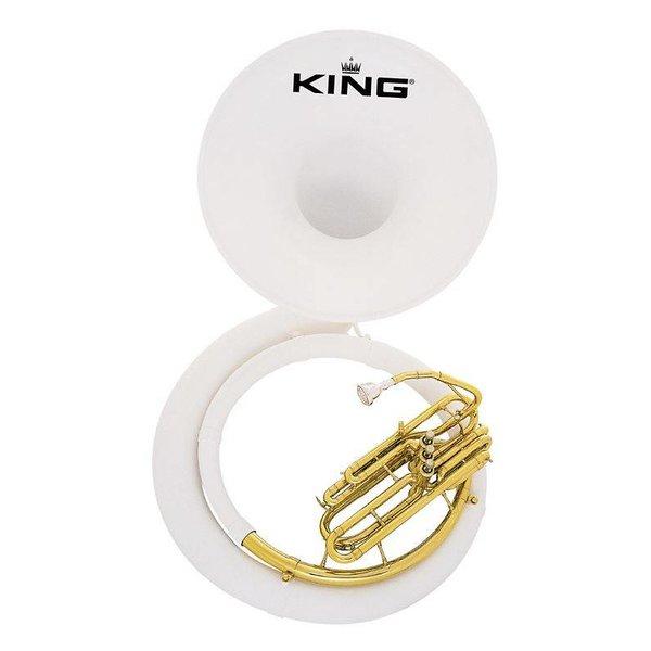 King King 2370 Fiberglass BBb Sousaphone, White, No Case