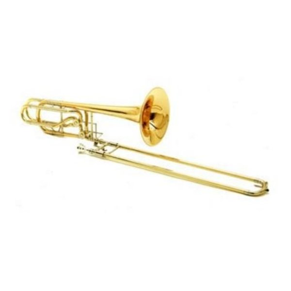 Conn Conn 62HISP Professional Bass Trombone, Independent Rotors, Silver Plated