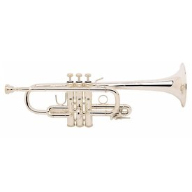 Bach Bach D180S Stradivarius Professional D Trumpet, Medium Bore, Silver Plated