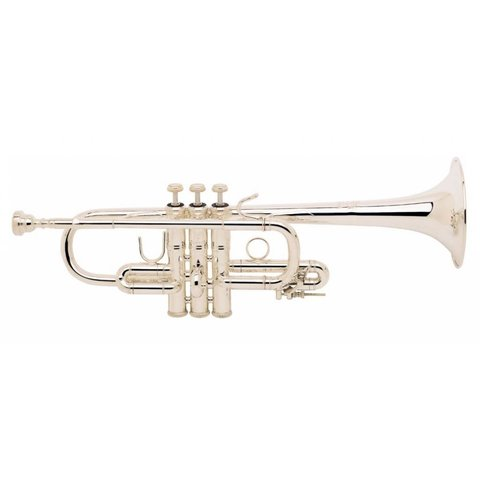 Bach D180S Stradivarius Professional D Trumpet, Medium Bore, Silver Plated