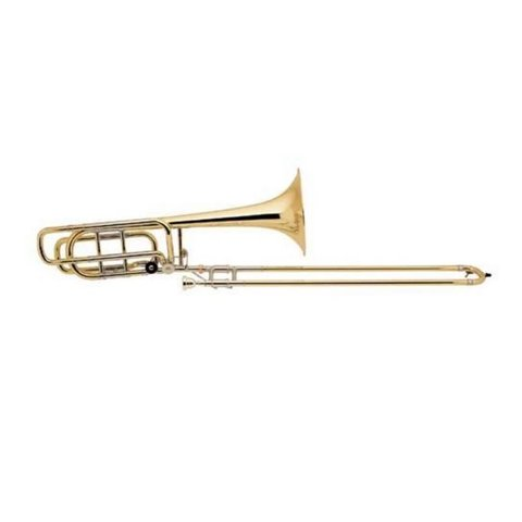 Bach 50B3G Stradivarius Professional Bb/F/Gb Bass Trombone, Gold Brass Bell