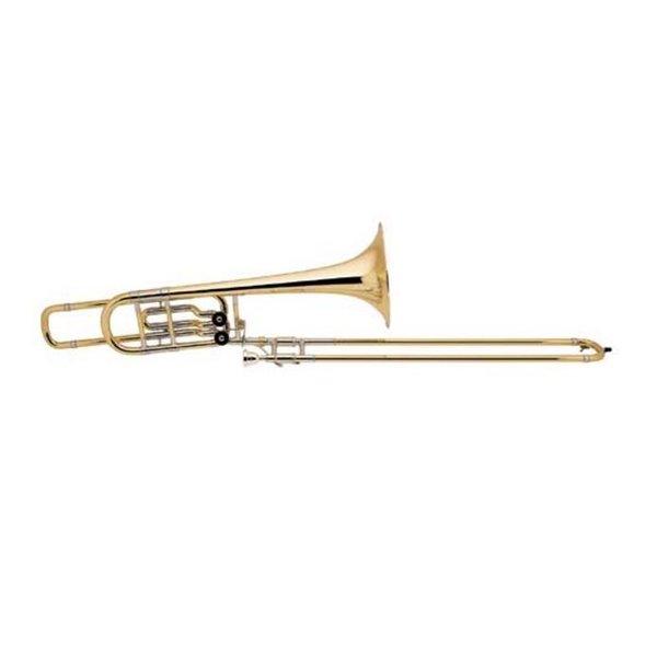 "Bach Bach 50B2LG Stradivarius Profess Bb/F/Eb Bass Trombone, 10.5"" Gold Brass Bell"