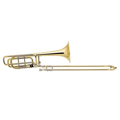 Bach 50B3LOG Strad Pro Bb/F/Gb Bass Trombone Opn Wrap 10.5'' Gold Brass Bell