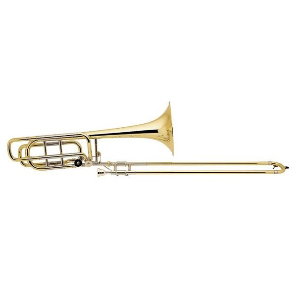 Bach Bach 50B3LOG Strad Pro Bb/F/Gb Bass Trombone Opn Wrap 10.5'' Gold Brass Bell