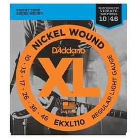 D'Addario D'Addario EKXL110 Nickel Wound Electric Strings Regular Light, Reinforced, 10-46