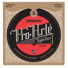 D'Addario D'Addario EJ45 Pro-Arte Nylon Classical Guitar Strings, Normal Tension