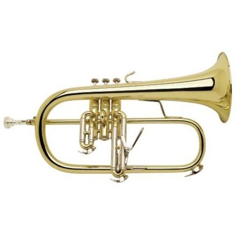 Bach 183SG Stradivarius Professional Bb Flugelhorn Silver Plated Gold Brass Bell