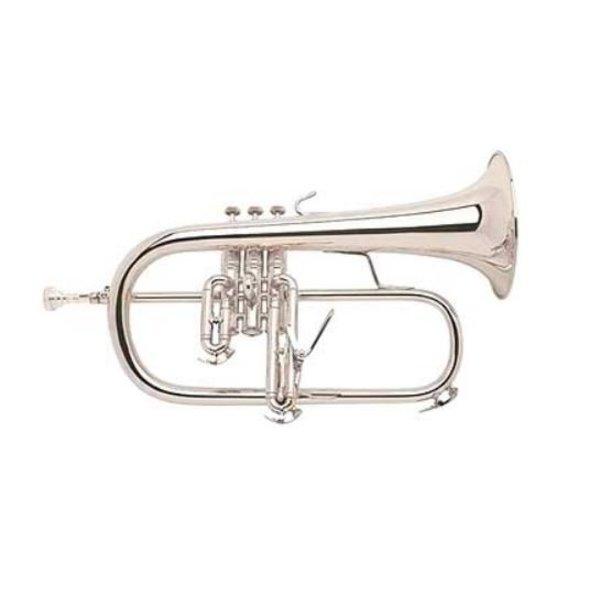 Bach Bach 183R Stradivarius Professional Bb Flugelhorn, Sterling Silver Bell