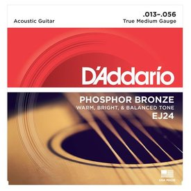 D'Addario D'Addario EJ24 Phosphor Bronze Acoustic Guitar Strings, True Medium, 13-56