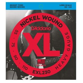D'Addario D'Addario EXL230 Nickel Wound Bass Guitar Strings, Heavy, 55-110, Long Scale