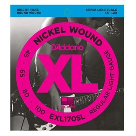 D'Addario D'Addario EXL170SL Nickel Wound Bass Guitar Strings, Light, Super Long Scale