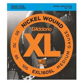 D'Addario D'Addario EXL160SL Nickel Wound Bass Strings, Medium, 50-105, Super Long Scale