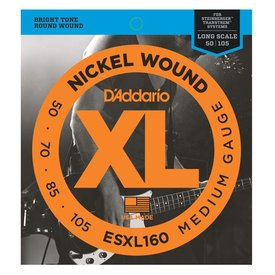 D'Addario D'Addario ESXL160 Nickel Wound Bass, Medium, 50-105, Double Ball End, Long Scale
