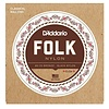D'Addario EJ34 Folk Nylon Strings, Ball End, 80/20 Bronze/Black Nylon Trebles