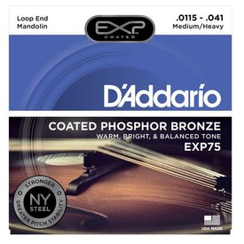 D'Addario D'Addario EXP75 Coated Phosphor Bronze Mandolin Strings, Medium/Heavy, 11.5-41
