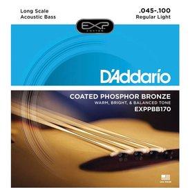 D'Addario D'Addario EXPPBB170 Phosphor Bronze Coated Acoustic Bass Strings, Long Scale, 45-100