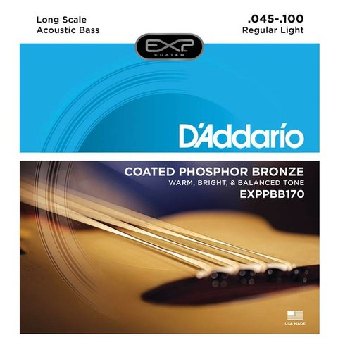 D'Addario EXPPBB170 Phosphor Bronze Coated Acoust Bass Strings Long Scale 45-100
