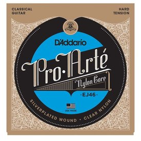 D'Addario D'Addario EJ46 Pro-Arte Nylon Classical Guitar Strings, Hard Tension