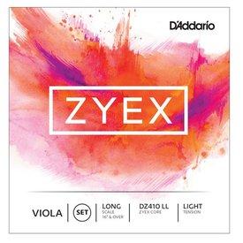 D'Addario Orchestral D'Addario Zyex Viola String Set, Long Scale, Light Tension