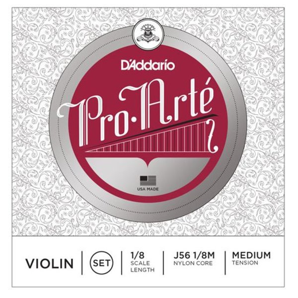 D'Addario Orchestral D'Addario Pro-Arte Violin String Set, 1/8 Scale, Medium Tension