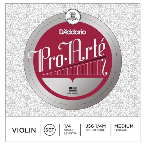 D'Addario Orchestral D'Addario Pro-Arte Violin String Set, 1/4 Scale, Medium Tension
