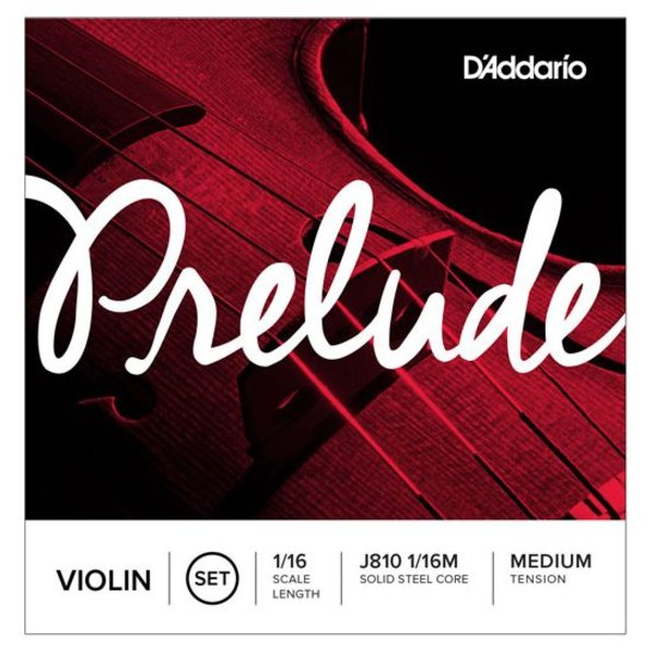 D'Addario Orchestral D'Addario Prelude Violin String Set, 1/16 Scale, Medium Tension