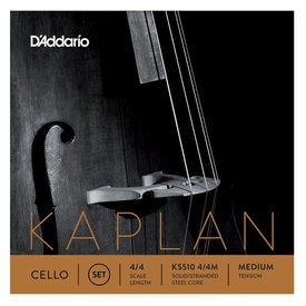 D'Addario Orchestral D'Addario Kaplan Cello String Set, 4/4 Scale, Medium Tension