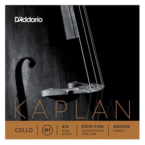 D'Addario Kaplan Cello String Set, 4/4 Scale, Medium Tension