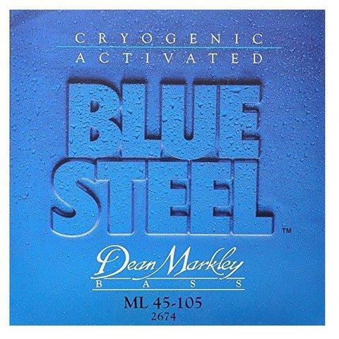 Dean Markley 2674 Blue Steel Electric Bass Strings 45-105 Medium Light