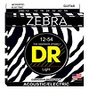DR Strings ZAE-12 Zebra Acoustic-Electric Strings, Round Core, Medium, 12-54