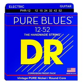 DR Handmade Strings DR Strings PHR-12 Pure Blues Strings, Nickel, Extra Heavy, 12-52