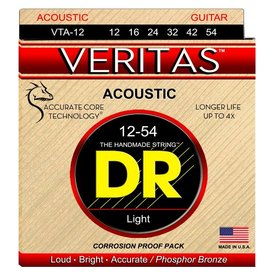 DR Strings DR Strings VTA-12 Light VERITAS with A.C.T Acoustic: 12, 16, 24, 32, 42, 54