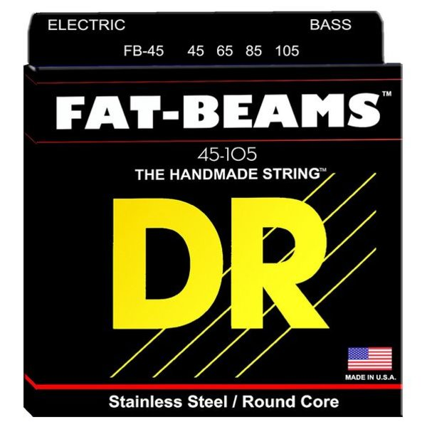 DR Strings DR Strings FB-45 Medium FATBEAM  - Stainless Steel Bass: 45, 65, 85, 105