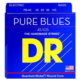 DR Strings DR Strings PB-45 Medium PURE BLUES  -Quantum-Nickel: 45, 65, 85, 105