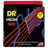 DR Strings NRE-10 Medium Hi-Def NEON RED Coated Electric: 10, 13, 17, 26, 36, 46