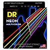 DR Strings NMCE-10 Med Hi-Def NEON Multi-Color: Coated 10, 13, 17, 26, 36, 46