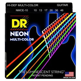 DR Strings DR Strings NMCE-10 Med Hi-Def NEON Multi-Color: Coated 10, 13, 17, 26, 36, 46