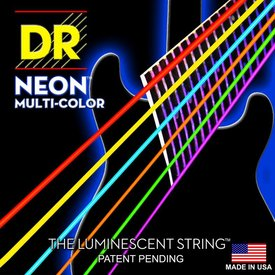 DR Strings DR Strings NMCE-9 Light Hi-Def NEON Multi-Color: Coated: 9, 11, 16, 24, 32, 42