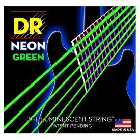 DR Strings DR Strings NGE-10 Medium Hi-Def NEON GREEN: Coated Electric: 10, 13, 17, 26, 36, 46